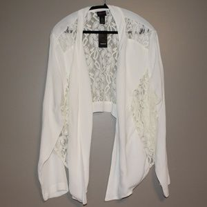 NWT Torrid Long Sleeve Lace Inserts Open Cardigan